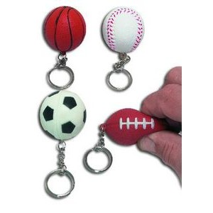 Soft Sport Ball Key Chain