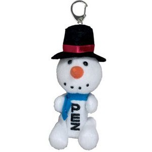 Plush Snowman Pez Dispenser Keychain