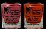 Custom Blaze Summer Bright Color Change Nail Polish - Atomic Pink to Heat Wave