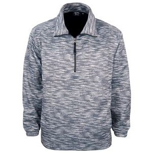 Men's ¼ Zip Sublimated Print Pullover Sweater