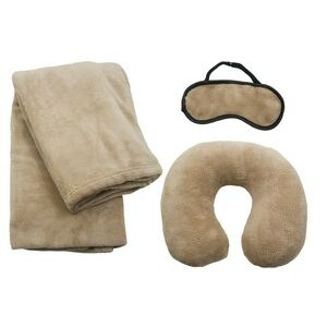 Travel Set w/ Blanket, Pillow & Mask