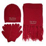 Custom Knitted Winter Set w/ Beanie, Gloves & Scarf
