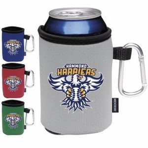 Koozie® Collapsible Can Kooler w/Caribiner - Heat Transfer