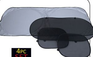 Maxam 4 Piece Auto Window Sun Shade Set
