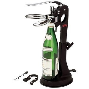 Tabletop Wine Opener with Suction-Grip Stand