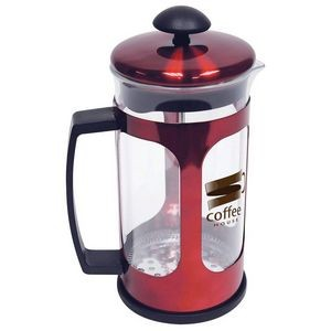 34oz (1 liter) Red Metallic Premium French Press