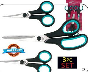 Maxam 3 Piece Small Household Scissor Set