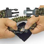 Custom Firestarter Camo Paracord Bracelet