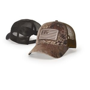 Relaxed Unstructured Garment Washed Printed Trucker Cap