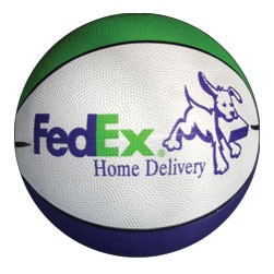 "7"" Mini Rubber Basketball (Size 3)"
