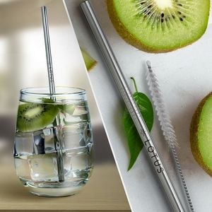 Silver Stainless Steel Straw