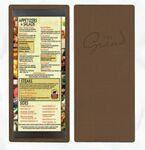 Custom Single Panel Top & Bottom Strip Menu Board (4 1/4