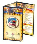 Custom Cafe Style Triple Continuous 6 View Menu Jackets (8 1/2