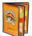 Custom Cafe Style Quad Panel Booklet Menu Jackets w/ 8 Views (5 1/2