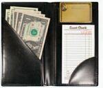 Custom Check Presenter w/ Credit Card Pocket and Gold