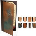 Custom Quad Panel Booklet Copper Front Cover (Holds SIX 5 1/2
