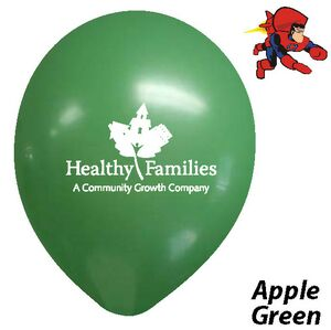 9 Apple Green Latex Balloons