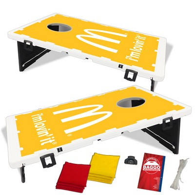 The Official Baggo Bean Bag Toss Game w/ 2 Portable Boards & 8 Bags - 1 Color
