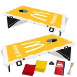 Custom The Official Baggo Bean Bag Toss Game w/ 2 Portable Boards & 8 Bags - 1 Color
