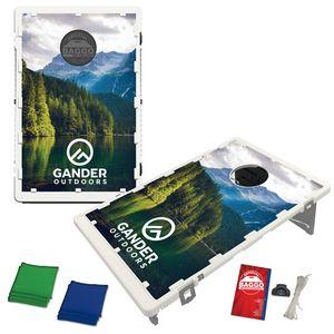 The Official Baggo Bean Bag Toss Game w/ 2 Portable Boards & 8 Bags - 4 Color