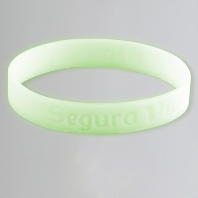 Debossed Glow-In-The Dark Silicone Bracelet