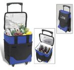 Collapsible Rolling Cooler with Divider