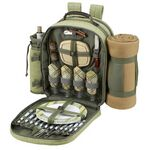 Custom Hamptons Picnic Backpack with Blanket For Four.