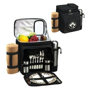 Picnic Set for 2 with Cooler, Coffee Service & Blanket