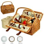 Custom Sussex Picnic basket for Two