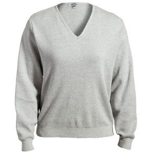 Edwards Ladies' V-Neck Cotton Sweater