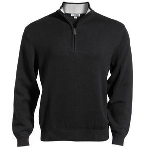 Edwards Unisex Quarter Zip Mock-Neck Sweater