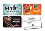 Custom Music Download Key Tag Card - 5 Song