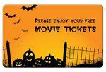 Custom Halloween Movie Ticket Card