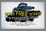 Custom 4 Song Music Download Gift Card