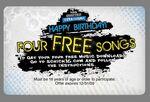 Custom 4 Song Music Download Card