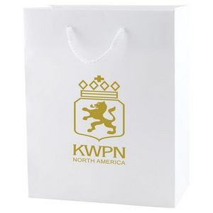 "White Kraft Eurotote Bag (8""x4""x10"")"