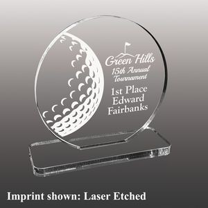 Golf Themed Etched Acrylic Awards - Large