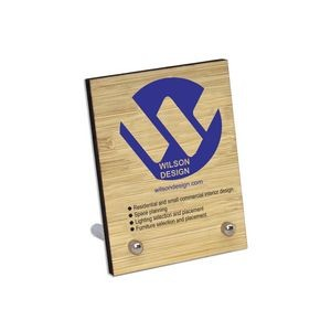 Ultra Vivid Bamboo Desk Plaques With Posts
