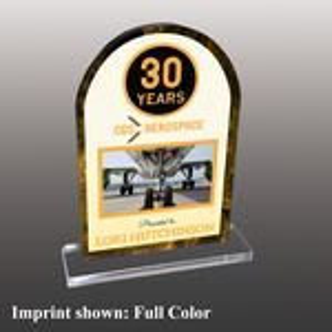 Custom Stock Shaped Full Color Acrylic Awards - Medium