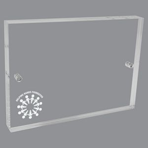 "Etched Acrylic Picture Frame (4""x5"")"