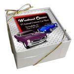 Custom Acrylic Coaster Gift Set W/ Cork Backing (4 Piece Set)