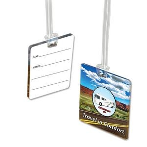 Custom Acrylic Luggage Bag Tags (4 Square Inch)