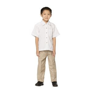Boy's Khaki Poly/ Cotton Casual Pants
