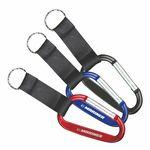 Custom Carabiner Key Ring w/ Black Strap