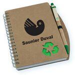 Custom Recycled Cardboard Notebook w/Pen