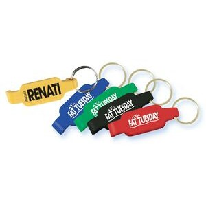Solid Color Bottle Opener Key Ring