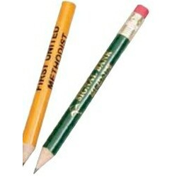 "3.5"" Round Standard Golf Pencil w/ Eraser"