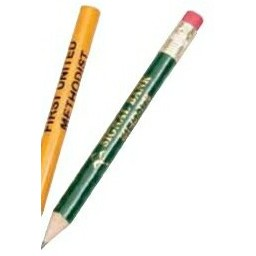 "3 1/2"" Hex Standard Golf Pencil w/ Eraser"
