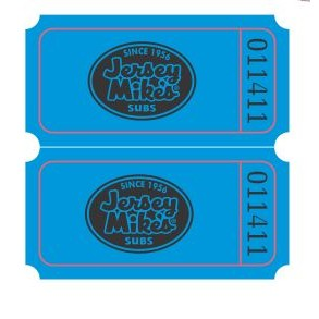 Double Ticket Roll of 2000 w/ Custom Logo on FRONT