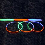 Custom Tri Color Glow Necklace with optional logo available